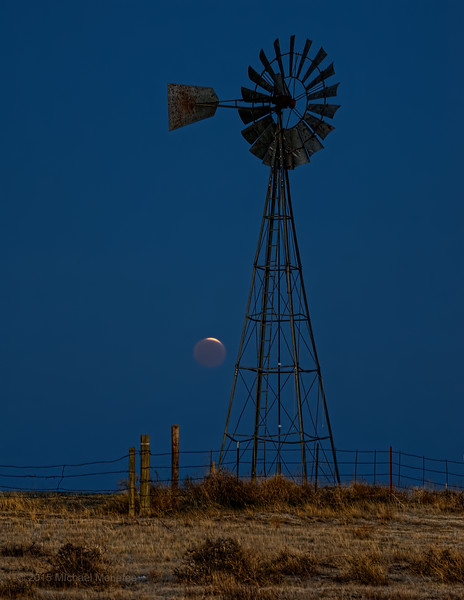 Morning Lunar Eclipse on the Prairie