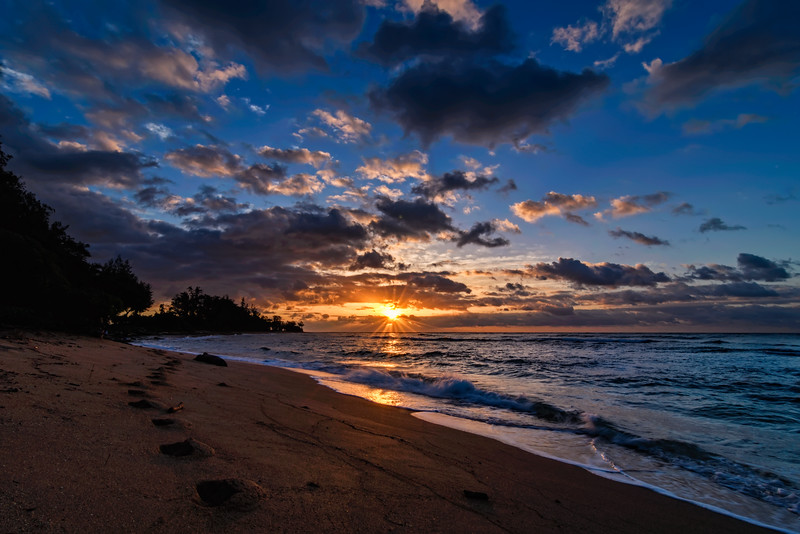 Stepping into an Hawaiian Sunrise