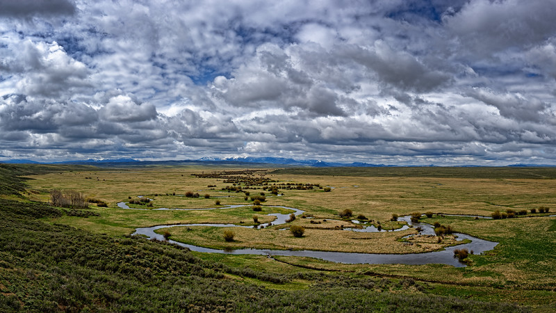 Meandering through Arapaho National Wildlife Refuge