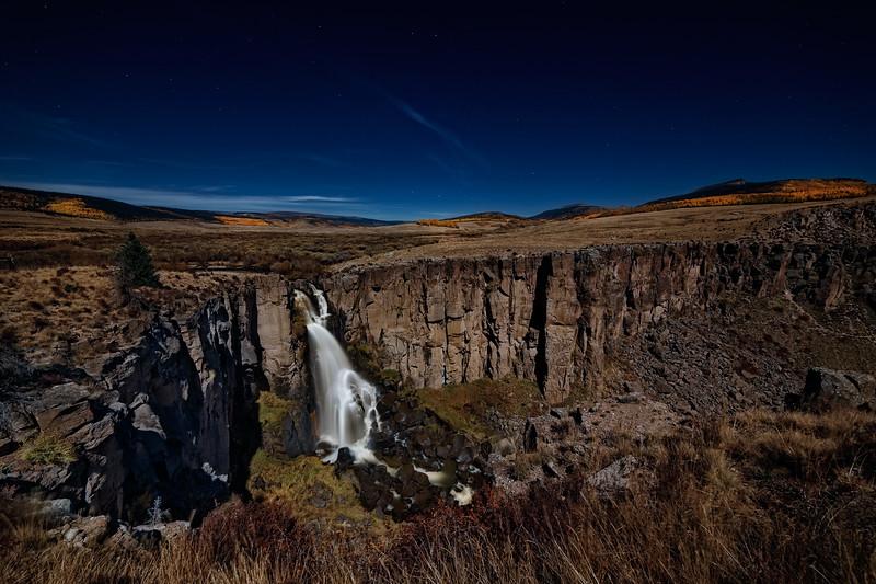 Moonlit North Clear Creek Falls