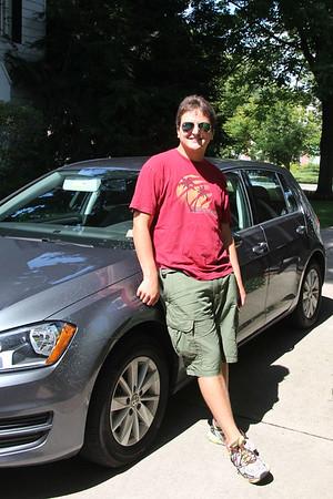 John and his new car...