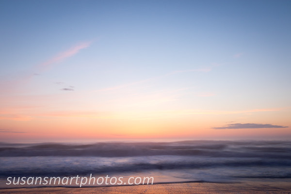 Sunrise from the beach in the Outer Banks of NC