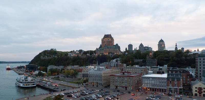 Quebec in the Evening from the Cruise Ship