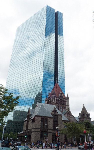 Boston Trinity Church and John Hancock Tower