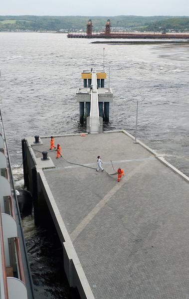 Ship arrival Saguenay