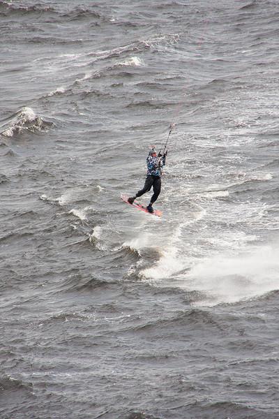 Wind kiter at Saguenay