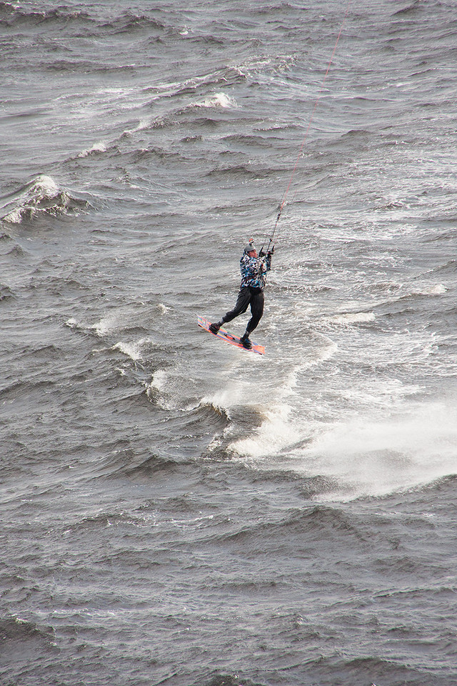 Wind kiter at Saguenay