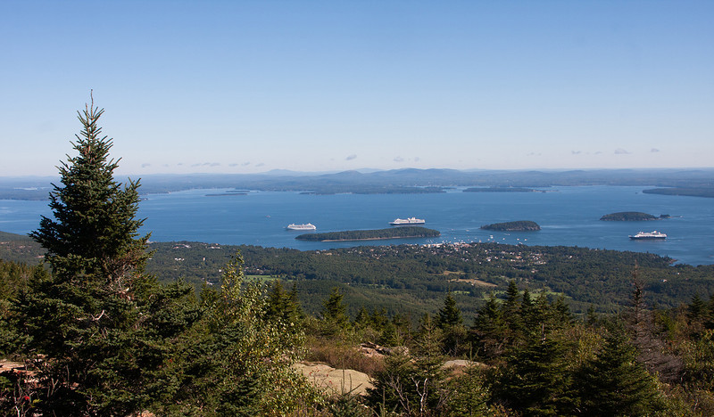 From Cadillac Moutain Bar Harbor Maine