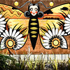 This is the second of three murals at Titahi Bay, representing Monarch butterflies. Acknowledgment to the artist, Xoe Hall.