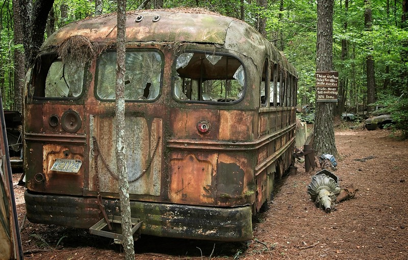 """Relics and treasures found at """"Old Car City USA"""",  White Georgia."""