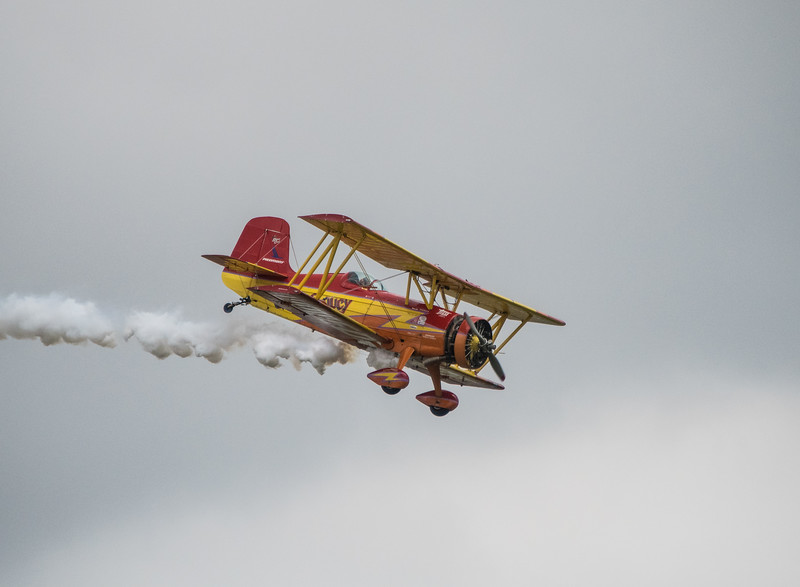 """Mr. Airshow,"" Gene Soucy in his Grumman Ag Cat"