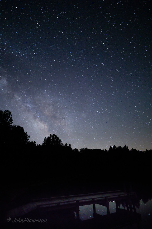 Night Sky & Reflection, Powhatan Wildlife Management Area