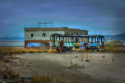 Abandoned Saltair Train and Substation - Salt Lake City, Utah