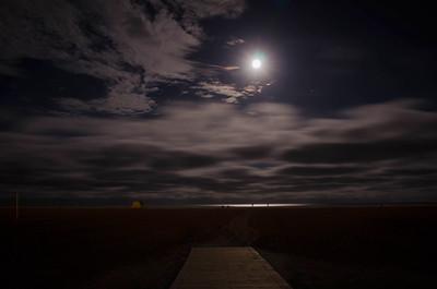 Full Moon over the Ocean - Wildwood Crest, New Jersey