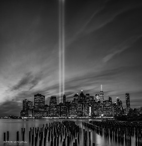 9/11 Tribute in Black and Light