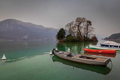 Les berges du Lac à Annecy