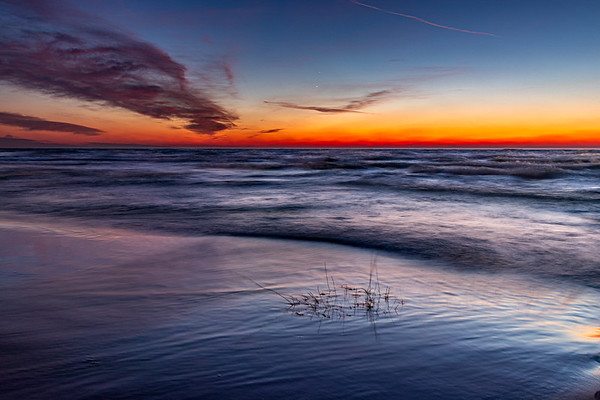 Infinite Afterglow on Lake Michigan