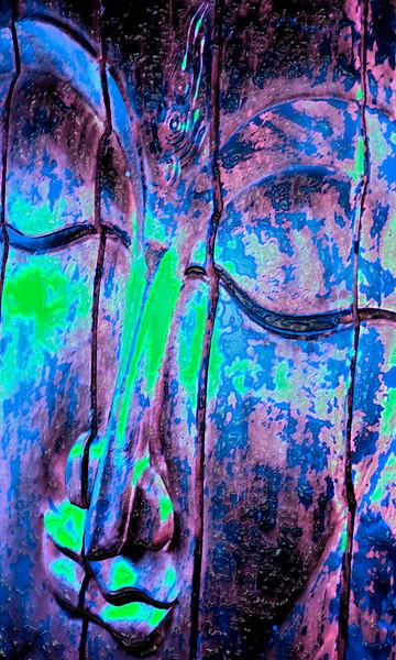 face purple blue