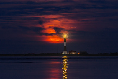 Moonrise Over Fire Island Lighthouse I