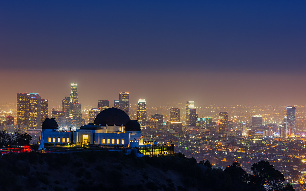 LA Skyline with Griffith  Observatory