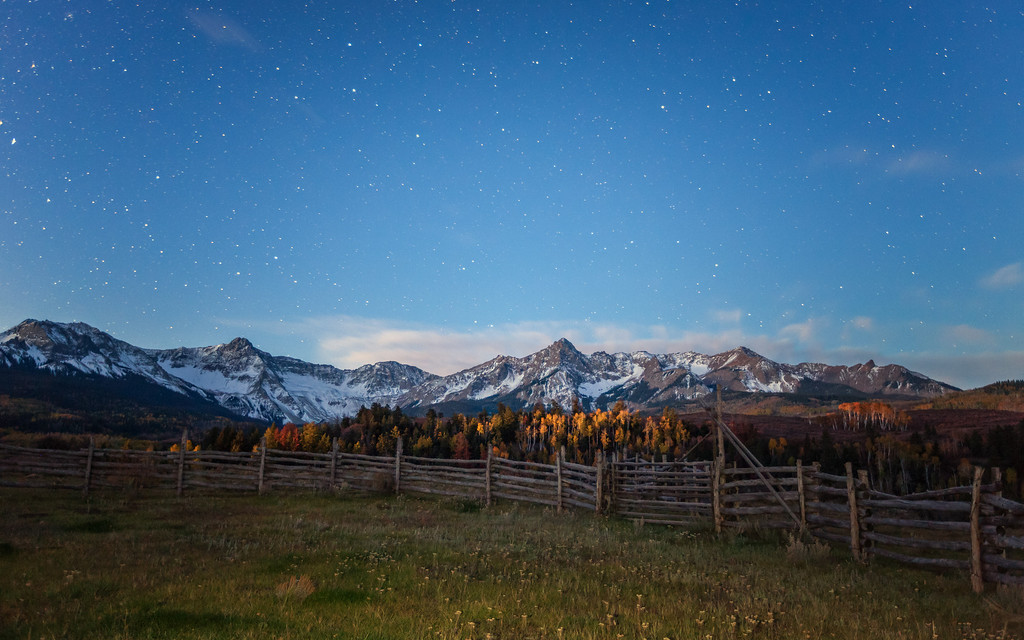 County Road 9 Starry Morning