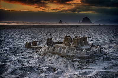 Sandcastle And Lava Rock