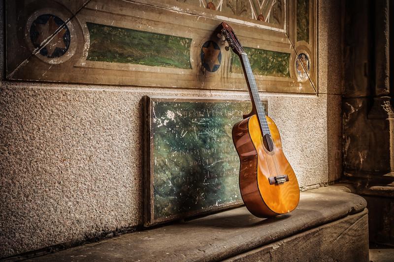 Resting Guitar in Central Park