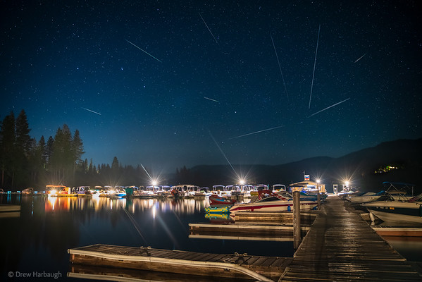 Bass Harbor Marina Perseid Meteor Shower 2020