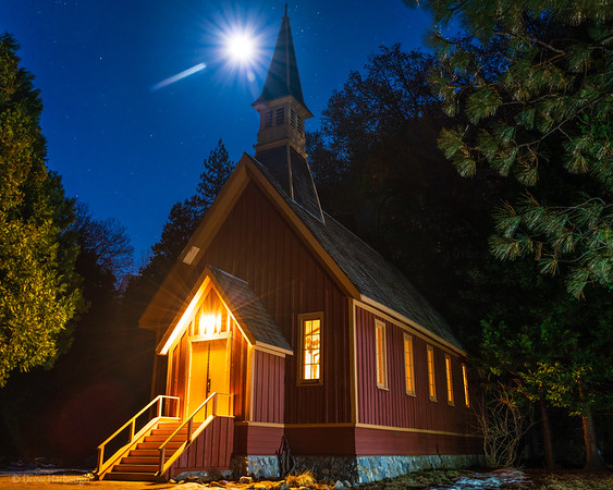Yosemite Chapel and the Moonstar