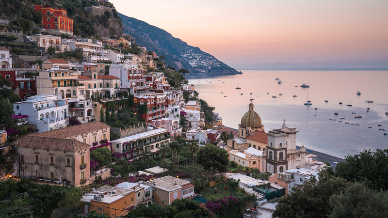 HDR Photography - Dawn in Positano Italy 16x9