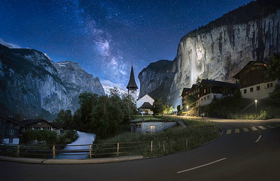Starry Night in Switzerland