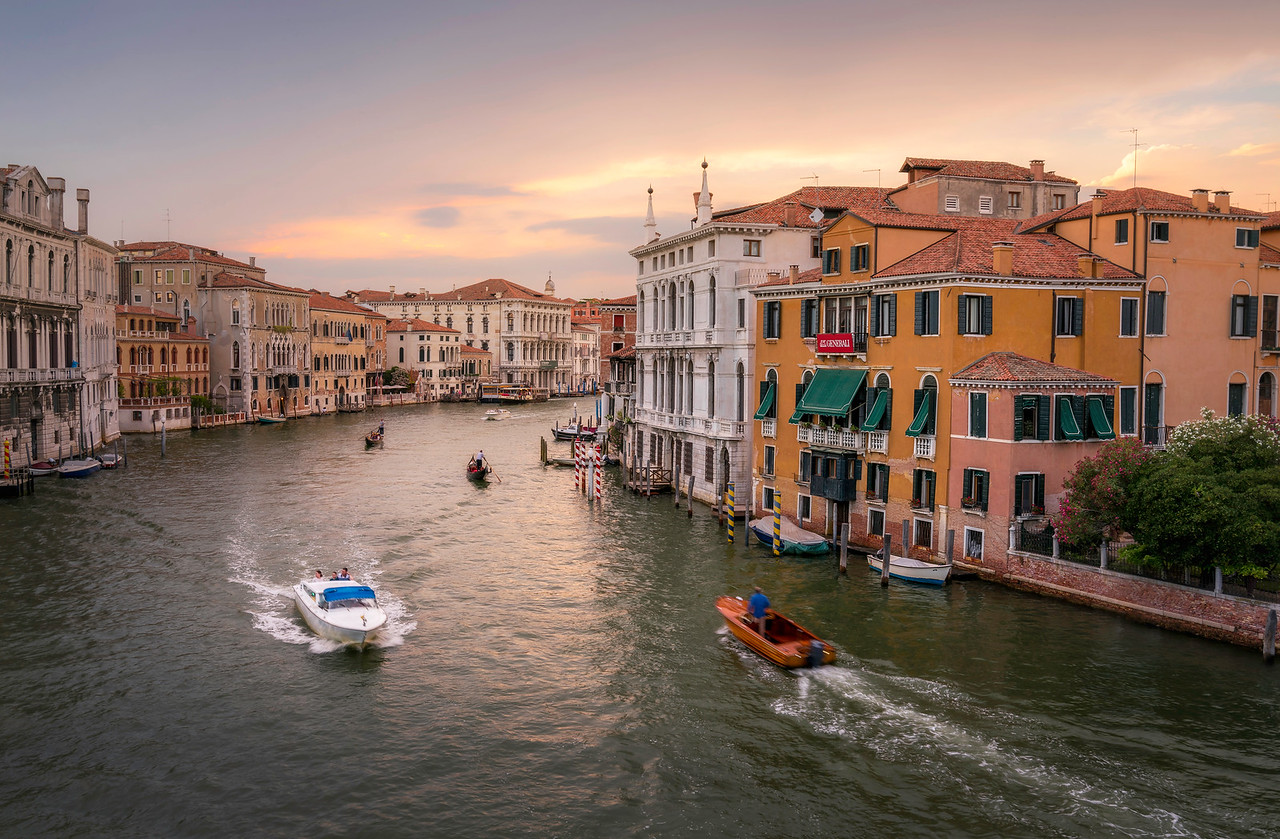 Sunset on the Grand Canal