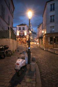 Montmartre Paris at Night