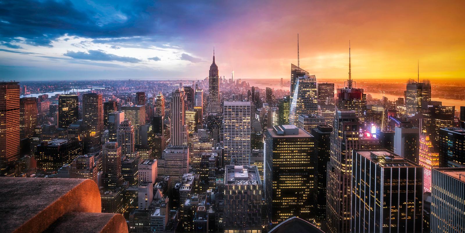 Day vs Night New York City