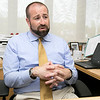 The new Samoset Middle School Principal Matt Steinberg talks about his life and the new job Wednesday, August 28, 2019. SENTINEL & ENTERPRISE/JOHN LOVE