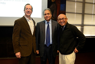 """The New School University and India China Institute Presents: """"Higher Education in India"""" Discussion with a Special Talk by Sukhadeo Thorat in the Orozco Room at 66 West 12th Street on October 28, 2013 in New York City."""