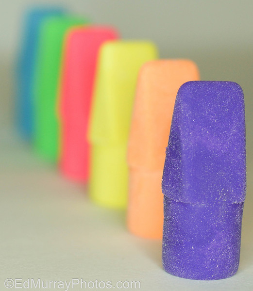 """DOF: This shot is a direct result of me having nothing to shoot. I resorted to shooting colored erasers that were on my desk. I need to jump start my brain. I think next week I'm going to do a series...perhaps a """"macro"""" series. Anyway, Thanks for all your comments and visits this week! Have a good weekend and I'll see you on Monday!  1/18/2013"""