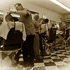 Shave and a Hair Cut, Two Bits: This is George's Barber Shop in Saugus, MA. Georege's is the oldest barbershop in the US. They opened their doors in 1902.