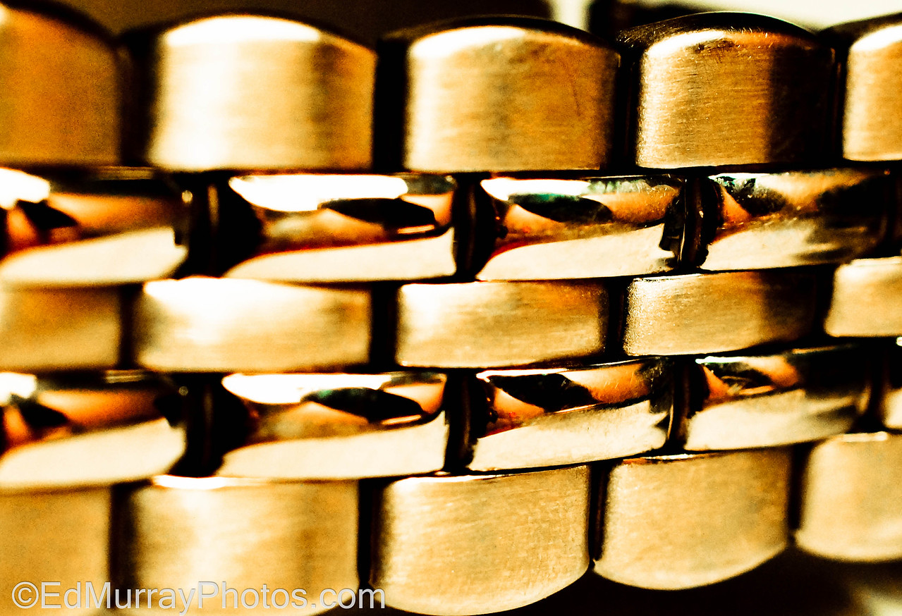 Watch Band: Here's shot #2 from the macro series. It's my watch band. I'm kind of on the fence with this one. What do you think? Keeper? Not a keeper? What would you do different? (if anything)  1/29/2013