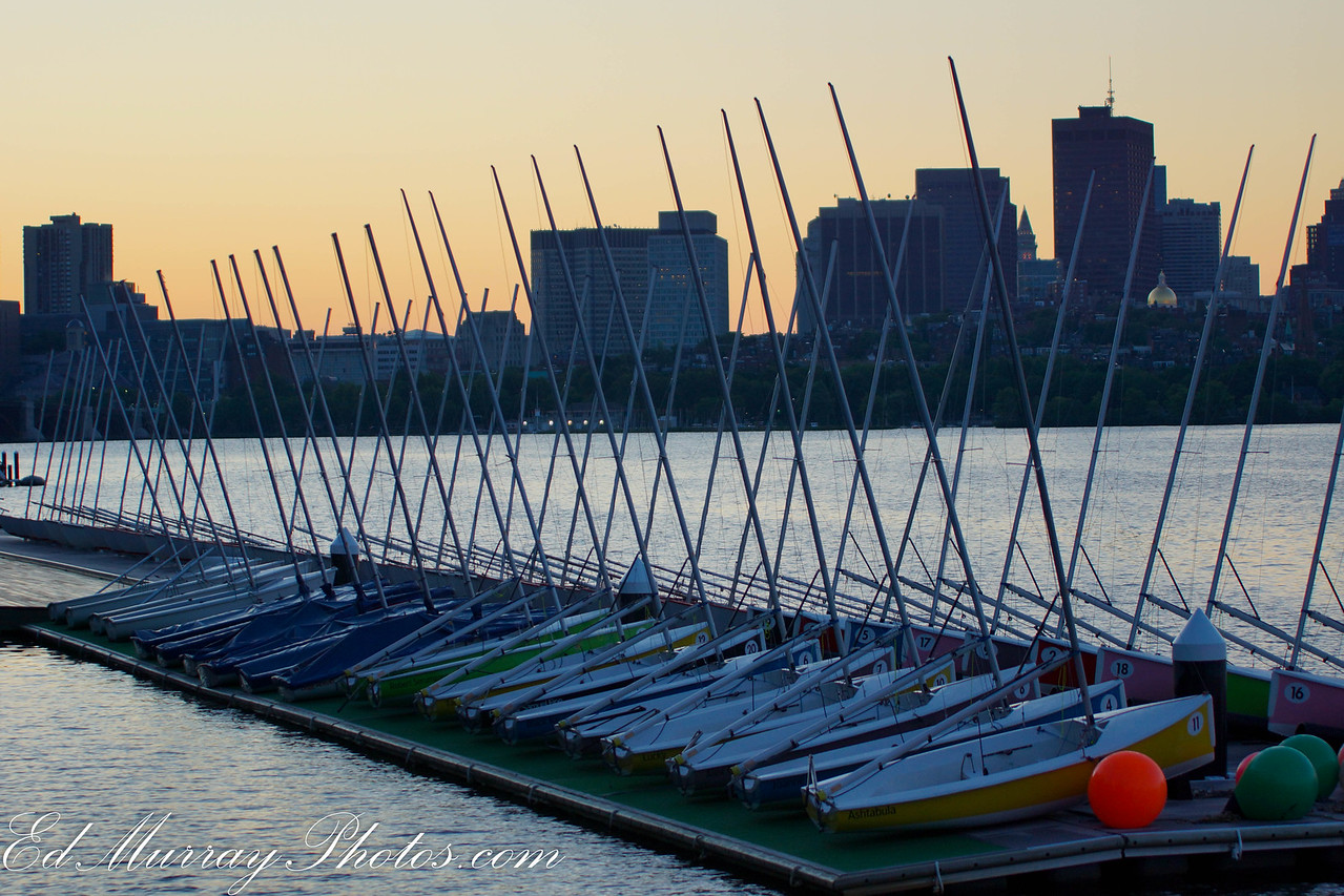 A Myriad of Morning Masts: Another from my sunrise in Boston series