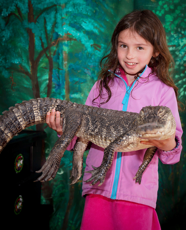 Girl and Gator