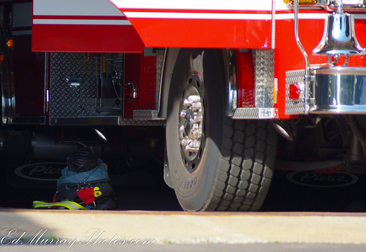 Ready and Waiting: Keep or delete? My intent here was to exemplify the fireman's gear which is on stand-by next to the truck but the gear is in the shadows a bit….I've been on the fence with this one. Any opinions?