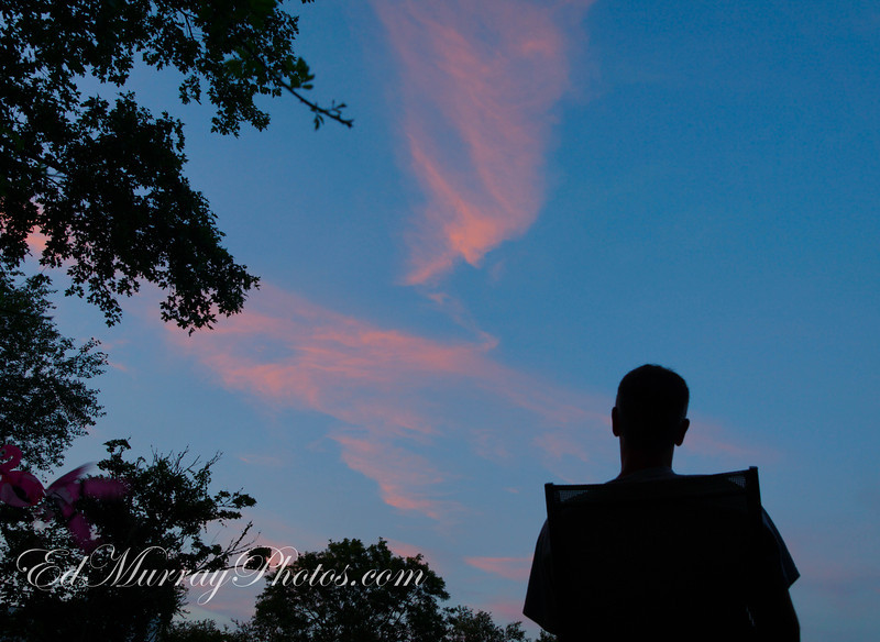 Admiring the Evening Sky: 