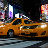 Cabs in Times Square