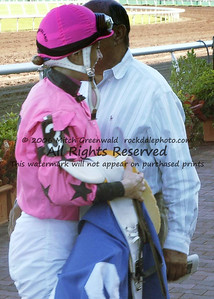 Chantal Sutherland, after riding Make a Pass, who broke her maiden, leading gate to wire.