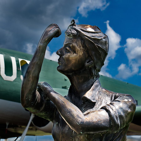 """Rosie The Riveter"" Charles B. Hall Airpark- Tinker AFB, Oklahoma, Oklahoma City"