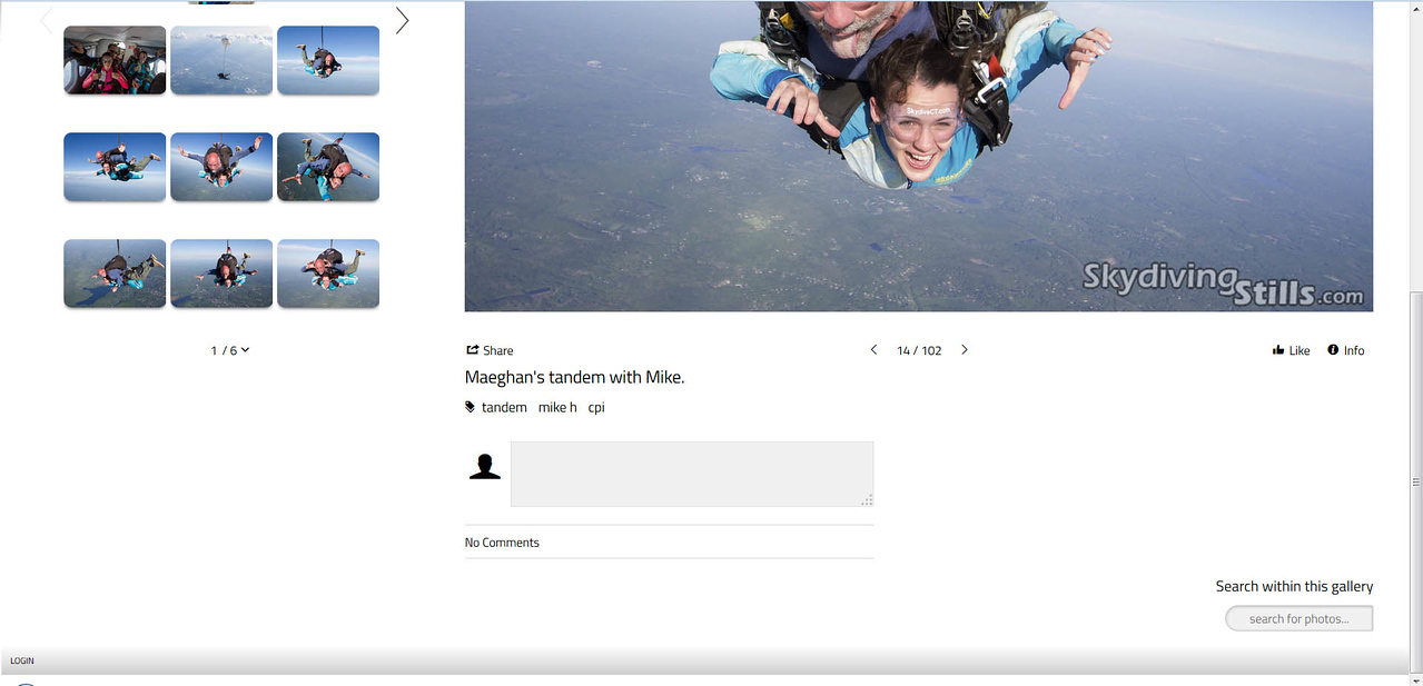You can also search for photos within a particular gallery using the search box in the lower right corner.