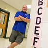 The former Assistant Principal at Sky View Middle School Douglas Nebel is now the principal and talked about his new job and the transition Wednesday, August 21, 2019. SENTINEL & ENTERPRISE/JOHN LOVE