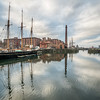 Ship Masts and Smoke Stacks, Liverpool, England