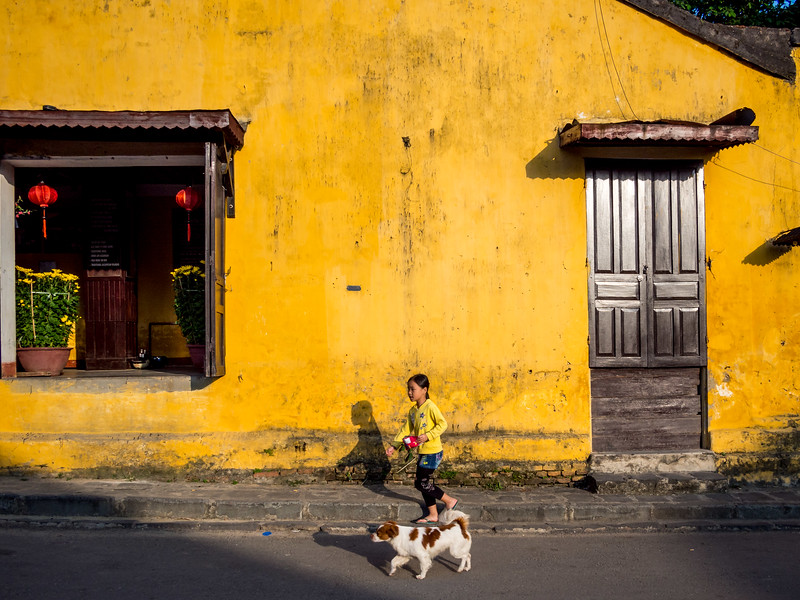 Girl and Dog, Hoi An, Vietnam